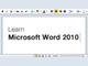 learn-microsoft-word-2010
