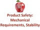 product-safety-mechanical-requirements-stability