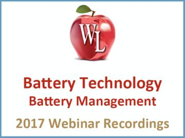Battery Technology: Battery Management [2017 Webinar Recording]