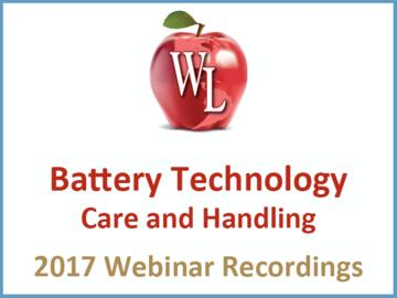 Battery Technology: Care and Handling [2017 Webinar Recording] (module)