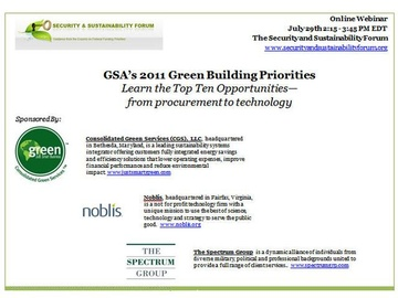 Green Buildings: A Security and Sustainability Forum Webinar