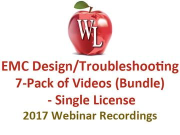 EMC Design/Troubleshooting 7-Pack of Videos (Bundle) - Single License [2017 Webinar Recordings]
