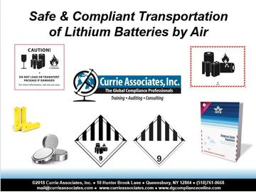 Safe and Compliant Transportation of Lithium Batteries by Air (2018)