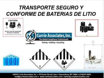 Safe and Compliant Multimodal Transportation of Lithium Batteries (49 CFR, ICAO/IATA, IMDG, TDGR, ADR) - Spanish (2018)