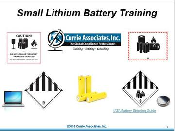 Safe and Compliant Transportation of Excepted Lithium Batteries by Ground and Air (49 CFR / ICAO/IATA) Training 2018