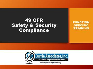 49 CFR Safety & Security Compliance Training (2019)