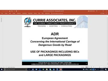ADR Use of Packagings including IBCs and Large Packagings