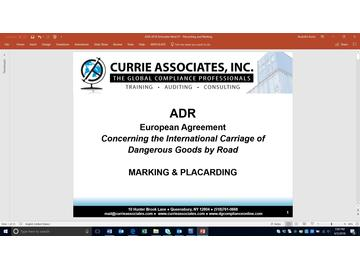 ADR Marking & Placarding
