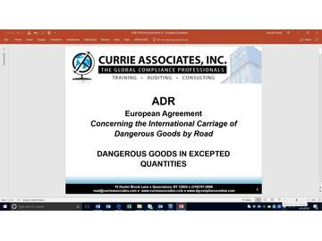 ADR Dangerous Goods in Excepted Quantities