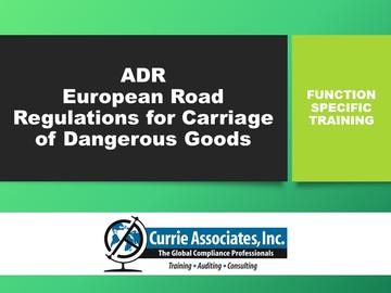 ADR European Road Regulations for Carriage of Dangerous Goods 2018