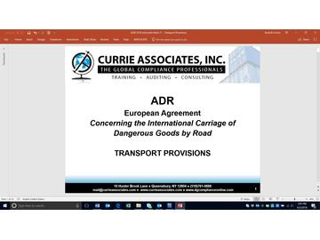 ADR Transport Provisions