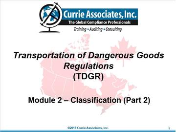 Module 2 - TDGR_Classification 2018