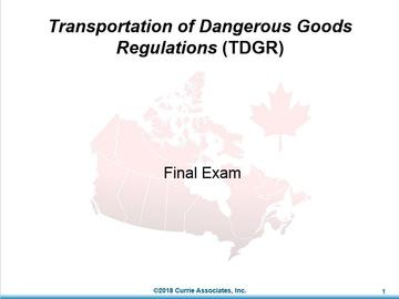 Module 9 - TDGR Final Exam 2018