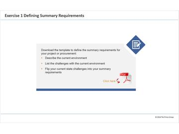Exercise 1 - Defining Summary Requirements