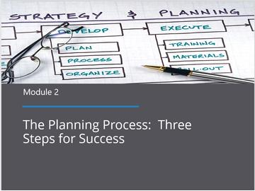 Module 2 - The Planning Process: Three Steps for Success