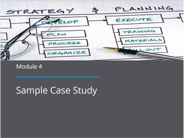 Module 4 - Sample Case Study