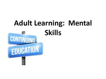 Adult Learning - Mental Skills Course