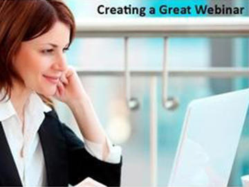 Creating a Great Webinar Course
