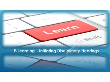 INITIATING DISCIPLINARY HEARINGS - INTERNATIONAL VERSION