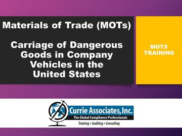 Materials of Trade US (MOTs)
