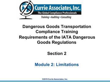 2.IATA Limitations