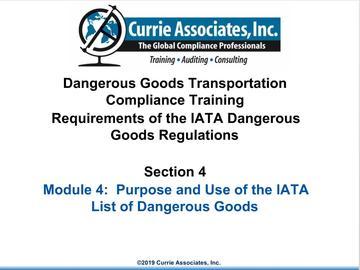 4.IATA List of Dangerous Goods