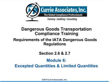 6.	IATA Limited Quantities and Excepted Quantities
