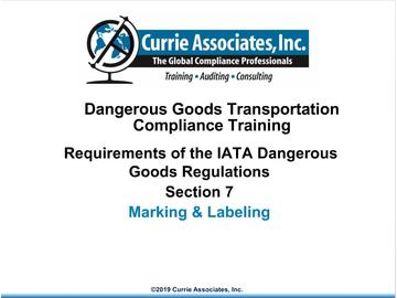 7.	IATA Marking and Labeling