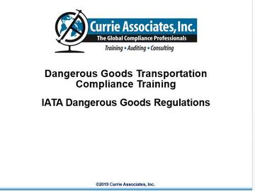 Dangerous Goods Transportation Compliance by Air (ICAO/IATA) 60th Edition 2019