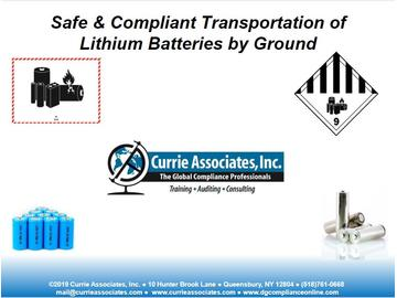 Currie Lithium Battery DOT CBT 2019
