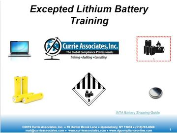Currie Excepted Lithium Battery CBT 2019