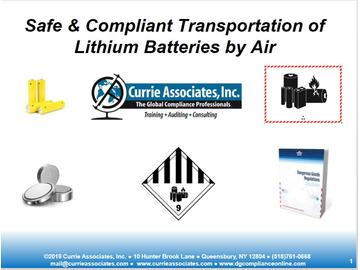 2019 Lithium Battery IATA Course