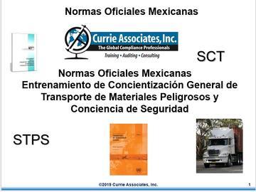 Currie NOM Concientizacion General Transporte de Materiales Peligrosos