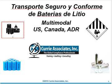 Transporte Seguro y Conforme de Baterias de Litio