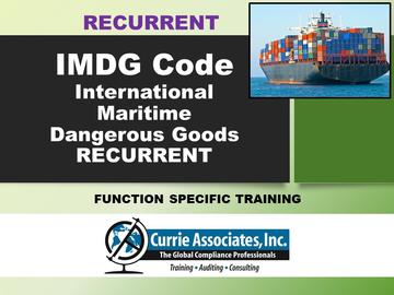 IMDG Code Amd. 39-18 Recurrent Training Program