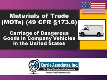 Materials of Trade US (MOTs)