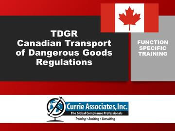 TDGR – Canadian Transport of Dangerous Goods Regulations Training (2020)