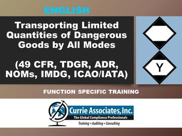 Transporting Limited Quantities of Dangerous Goods by All Modes (49 CFR, TDGR, NOMs, ADR, IMDG Amdt 39-18, ICAO/IATA) 2020