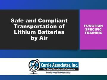 Safe and Compliant Transportation of Lithium Batteries by Air (2020)