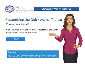 Customizing the Quick Access Toolbar in Microsoft Word