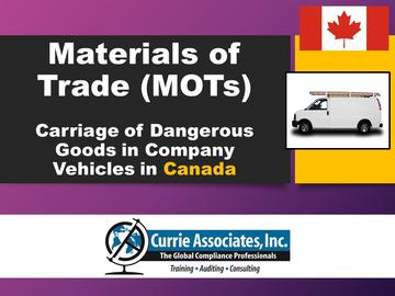 Materials of Trade: Canada (Course)
