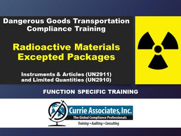Radioactive Materials Excepted Packages