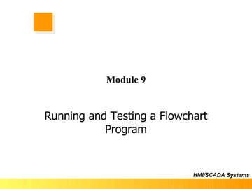 FloPro Module 9 - Running and Testing a Flowchart Program
