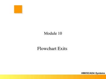FloPro Module 10 - Flowchart Exits
