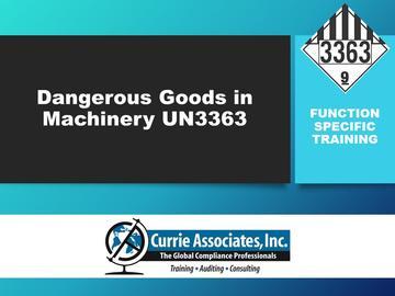 Dangerous Goods in Machinery UN3363
