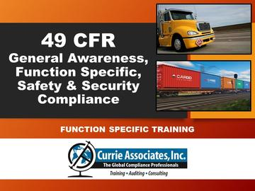 49 CFR, General Awareness, Function Specific, Safety & Security Compliance (2021)