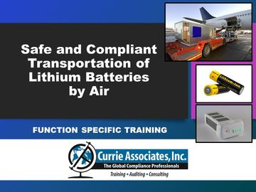 Safe and Compliant Transportation of Lithium Batteries by Air (2021)
