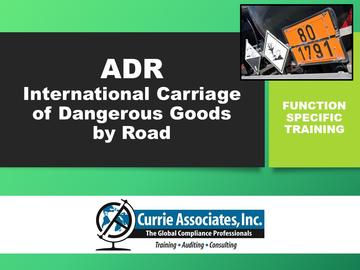 ADR 2021 – Agreement Concerning the International Carriage of Dangerous Goods by Road