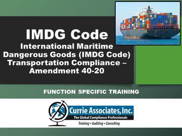IMDG Function Specific Training Program-Amd 40-20
