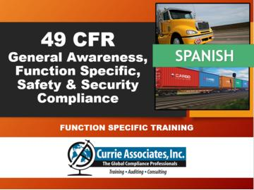 49 CFR, General Awareness, Function Specific, Safety & Security Compliance (2021) Spanish